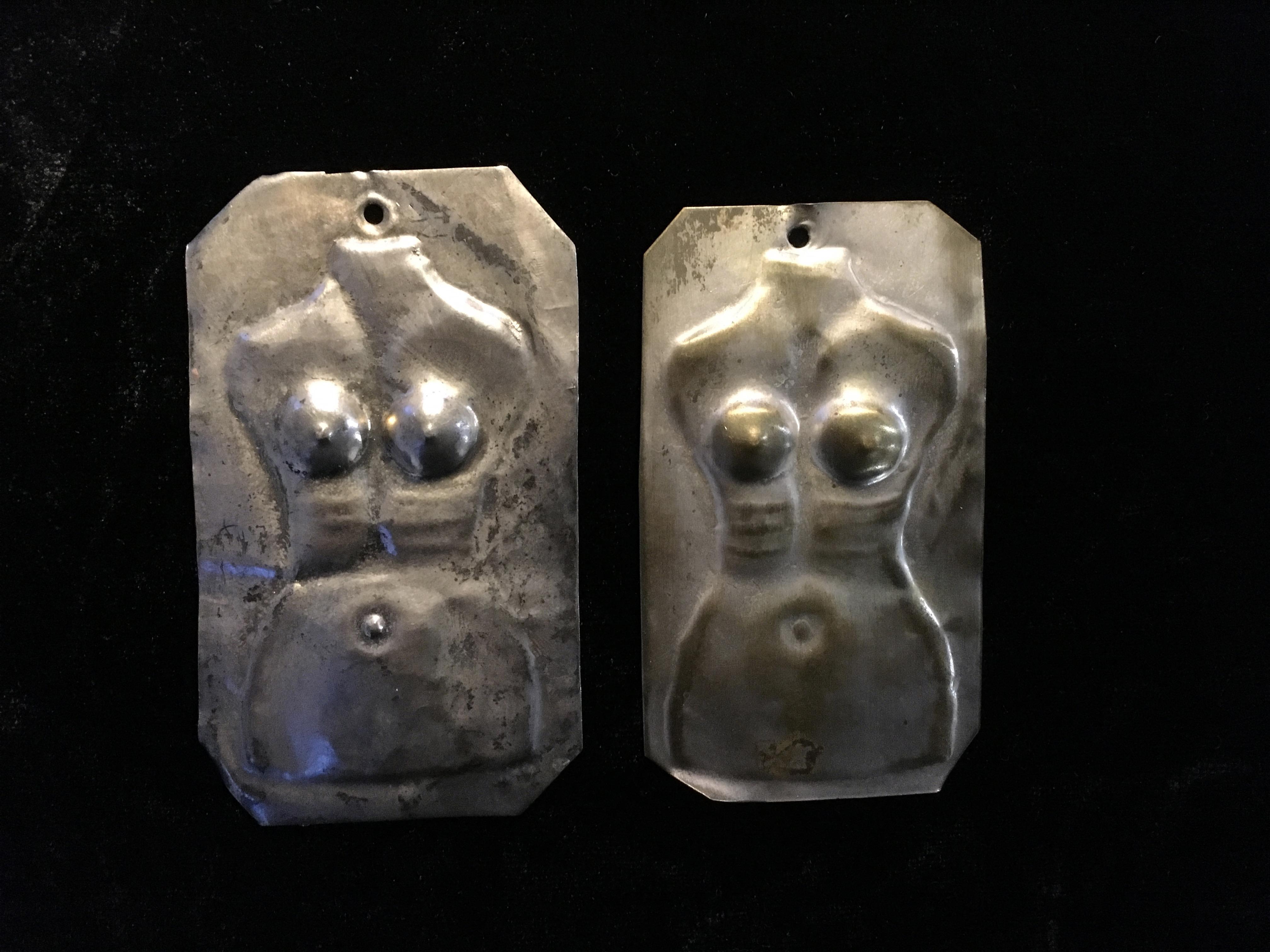 greek icons of female torsos